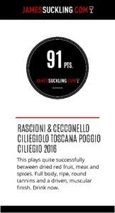 Rascioni Ceecconello Ciliegiolo IGT Toscana Poggio Ciliegio 2016